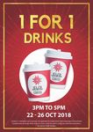 1 for 1 Drinks at Jewel Coffee (Monday 22nd to Friday 26th October, from 3pm to 5pm Daily)