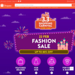 15% off (No Min Spend) or $12 off ($60 Min Spend) Fashion at Shopee