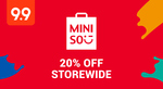 20% off Storewide + Extra $3 off ($30 Min Spend) at Miniso via Shopee
