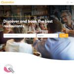 1000 Bonus Points (Worth $15) on Next Quandoo Reservation [via App]