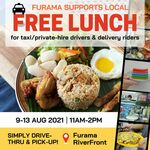 Free Bento Lunch (for Taxi/Private-Hire Drivers & Delivery Riders) from Furama RiverFront [11am to 2pm Daily]