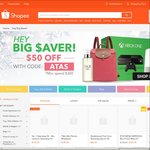 """$50 off at Shopee in """"Hey Big $aver!"""" ($300 Min Spend)"""