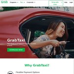 $7 off 7x GrabTaxi Rides with Grab (after Taking 1 Full Fare GrabTaxi Ride)