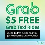 Free $5 GrabTaxi Voucher with $20+ Spend at JCube Mall