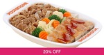 Beef and Teriyaki Chicken Rice Set for $1 (U.P. $8) at Yoshinoya via Fave by Groupon