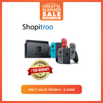 Nintendo Switch Console for $386.60 (or $376.60 with Citibank Cards) Delivered from Shopitree via Shopee
