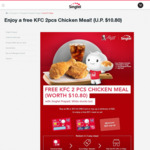 Free KFC 2pcs Chicken Meal When Topping Up Min. $25 to Singtel Prepaid Account or Purchasing New $8/$15 Singtel hi! SIM