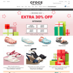 30% off Plus Free Shipping Sitewide (No Minimum Spend) at Crocs