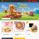 McDonald's McDelivery Free w/Purchase: Oreo McFlurry, Hash Brown, Large Fries, 6pc McNuggets or Filet-O-Fish