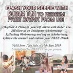 Free Milk Tea at Bober Tea (First 50 Daily, Selected Outlets & Hours, Instagram Required)