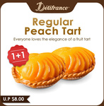 1+1 Regular Fruit Tarts ($5.80) at Delifrance via Qoo10