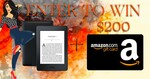 Win Amazon Kindle Paperwhite + USD $200 Amazon Gift Card from Book Throne