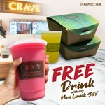 Free Drink with Any Nasi Lemak Sets at CRAVE