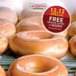Free Half Dozen Original Glazed Donuts When Any Assorted Dozen Purchase at Krispy Kreme