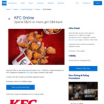 $4 Statement Credits ($20 Min Spend) at KFC Online/App [American Express Cards]