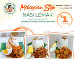 Nasi Lemak for $1 at Ah Miao's Kitchen (Pickup Only, Pre-Order Required)