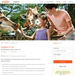 $27/Ticket for Singapore Zoo Admission via Klook (Min 2 Tickets)