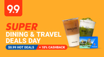 $1 off (No Min Spend), $10 off ($80 Min Spend) or $20 off ($130 Min Spend) on Dining & Travel at Shopee