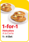 1 for 1 Hotcakes (A La Carte) at McDonald's [via App]