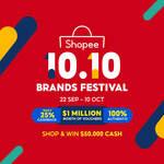 $5 off ($65 Min Spend), $10 off ($150 Min Spend) or $20 off ($280 Min Spend) Sitewide at Shopee