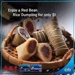 Red Bean Rice Dumpling for $1 (U.P. $5.50) at Din Tai Fung ($78 Minimum Spend, Citibank Cards)