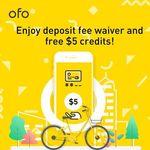 ofo Bikes - $0 Deposit (Was $39 Deposit) + Free $5 Credit
