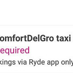 RYDE: Extra $3 Cashback on ComfortDelGro Taxi Rides