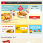 McDonald's McDelivery Free with Purchase: Hash Brown, 2pcs McWings or Filet-O-Fish