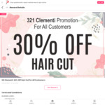 321 Clementi: 30% OFF Hair Cut For All Customers