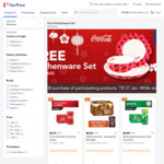 Free Kitcheware Set (Worth $68) with $108 Min Spend on Participating Coca-Cola Brand Products at FairPrice On
