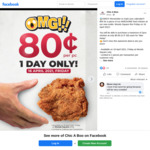 80c Chicken Per Piece at Chic A Boo