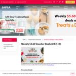 Weekly $5.60 Voucher Deals (U.P. $10) For Safra Members