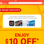 $10 off ($150 Min Spend) on Big Brand Discounts Products at Shopee [DBS/POSB Cards]