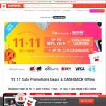 ShopBack 11.11 Singles Day Offer - Extra $1.11 Cashback with Purchases Over $111 on The Mobile App