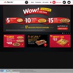 Pizza Hut - Personal Pizzas for $5, Regular Pizzas for $10, Large Pizzas for $15