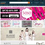 Additional 10% off on Top of The Existing up to 60% off Sale at Sasa via Lazada