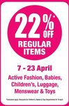 22% off Regular Items at BHG