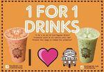 1 for 1 Drinks ($3) at Tuk Tuk Cha (Wednesday 27th September)