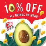 10% off All Drinks at LiHO (Facebook Required) [East Outlets]