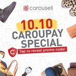 CarouPay 10% (Max $5) Discount on Carousell (New Users, $1 Minimum Spend)