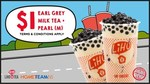 Medium Earl Grey Milk Tea with Pearls for $1 at LiHO (HomeTeamNS Members)