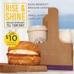 2x Eggs Benedict Brioche Sandwich & Cafe Latte Set for $10 at The Coffee Bean & Tea Leaf (Weekdays Until 11am)