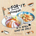 1 for 1 Donburi at En Sushi (Dine-In Only)