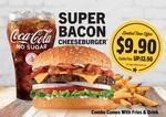 Super Bacon Cheeseburger Combo for $9.90 (U.P. $12.90) at Carl's Jr