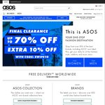 10% off Everything Sitewide at ASOS, Including Sale Items (eg. up to 70% off Final Clearance Sale)