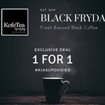 1 for 1 Black Coffee ($2.50) at KofeTea