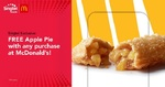 Free Apple Pie with Any Purchase at McDonald's (Singtel Customers)
