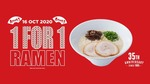 1 for 1 Ramen at Ippudo