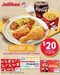 Limited Edition Jollibee NETS Cards with Chickenjoy $20 Super Value Meal at Jollibee (NETS Payments)