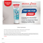 Free Colgate Sensitive Pro-Relief 110g Toothpaste at FairPrice (Exchange Used Sensitive Toothpaste, Collection Required)